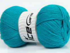 Lot of 4 x 100gr Skeins Ice Yarns VIRGIN WOOL DELUXE (100% Virgin Wool) Yarn Turquoise