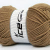 Lot of 4 x 100gr Skeins Ice Yarns SOFTLY BABY Hand Knitting Yarn Brown