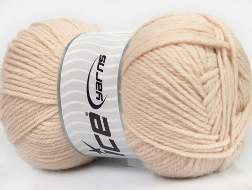 Lot of 4 x 100gr Skeins Ice Yarns SOFTLY BABY Hand Knitting Yarn Light Beige