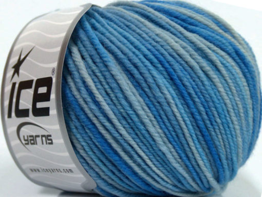 Lot of 6 Skeins Ice Yarns SUPERWASH MERINO Hand Knitting Yarn Blue Shades