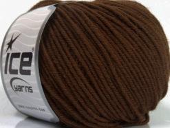Lot of 6 Skeins Ice Yarns SUPERWASH MERINO Hand Knitting Yarn Dark Brown