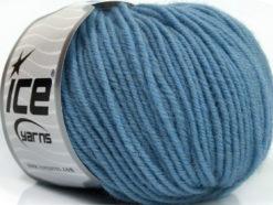 Lot of 6 Skeins Ice Yarns SUPERWASH MERINO Hand Knitting Yarn Light Blue
