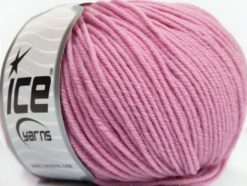 Lot of 6 Skeins Ice Yarns SUPERWASH MERINO Hand Knitting Yarn Light Pink