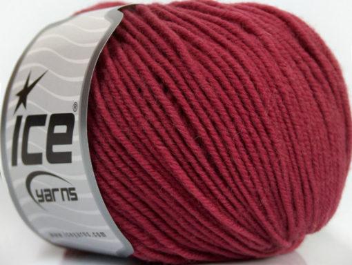 Lot of 6 Skeins Ice Yarns SUPERWASH MERINO (100% Superwash Merino Wool) Yarn Dark Rose Pink
