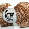 Lot of 8 Skeins Ice Yarns JEANS (100% Cotton) Hand Knitting Yarn Brown White