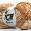 Lot of 8 Skeins Ice Yarns JEANS (100% Cotton) Yarn Light Brown White