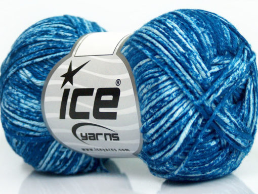 Lot of 8 Skeins Ice Yarns JEANS (100% Cotton) Hand Knitting Yarn Blue White