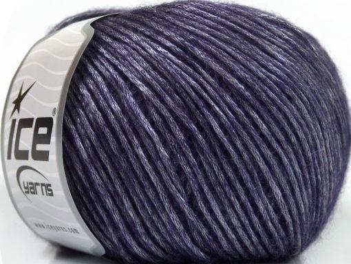Lot of 8 Skeins Ice Yarns SILVER SHINE Hand Knitting Yarn Purple
