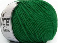 Lot of 4 Skeins Ice Yarns SUPERWASH MERINO EXTRAFINE (100% Superwash Extrafine Merino Wool) Yarn Green