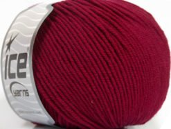 Lot of 4 Skeins Ice Yarns SUPERWASH MERINO EXTRAFINE (100% Superwash Extrafine Merino Wool) Yarn Burgundy