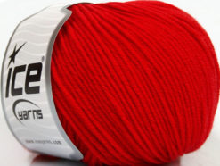 Lot of 4 Skeins Ice Yarns SUPERWASH MERINO EXTRAFINE (100% Superwash Extrafine Merino Wool) Yarn Red