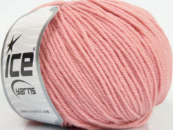Lot of 4 Skeins Ice Yarns SUPERWASH MERINO EXTRAFINE (100% Superwash Extrafine Merino Wool) Yarn Light Pink