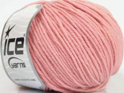 Lot of 4 Skeins Ice Yarns SUPERWASH MERINO EXTRAFINE (100% Superwash Extrafine Merino Wool) Yarn Light Pink