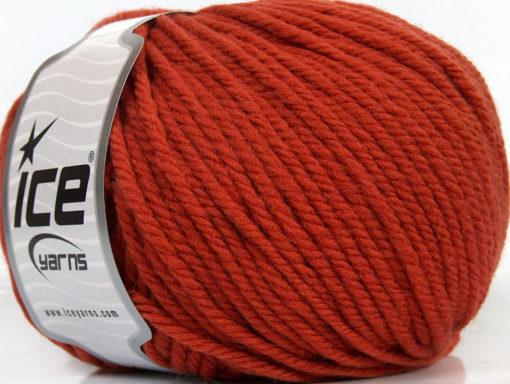 Lot of 3 x 100gr Skeins Ice Yarns SUPERWASH WOOL BULKY (100% Superwash Wool) Yarn Copper