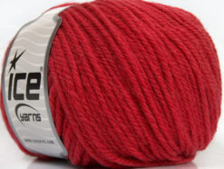 Lot of 3 x 100gr Skeins Ice Yarns SUPERWASH WOOL BULKY (100% Superwash Wool) Yarn Red