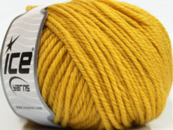 Lot of 3 x 100gr Skeins Ice Yarns SUPERWASH WOOL BULKY (100% Superwash Wool) Yarn Gold