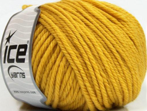 Lot of 3 x 100gr Skeins Ice Yarns SUPERWASH WOOL BULKY (100% Superwash Wool) Yarn Gold
