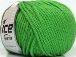 Lot of 3 x 100gr Skeins Ice Yarns SUPERWASH WOOL BULKY (100% Superwash Wool) Yarn Green