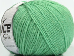 Lot of 3 x 100gr Skeins Ice Yarns SUPERWASH WOOL Hand Knitting Yarn Mint Green