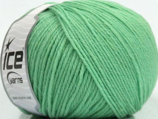 Lot of 3 x 100gr Skeins Ice Yarns SUPERWASH WOOL Hand Knitting Yarn Mint Green