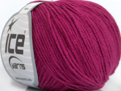Lot of 8 Skeins Ice Yarns ALARA (50% Cotton) Hand Knitting Yarn Dark Fuchsia
