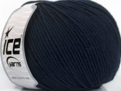 Lot of 4 Skeins Ice Yarns SUPERWASH MERINO EXTRAFINE (100% Superwash Extrafine Merino Wool) Yarn Dark Navy