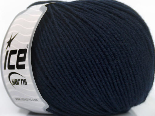 Lot of 4 Skeins Ice Yarns SUPERWASH MERINO EXTRAFINE (100% Superwash Extrafine Merino Wool) Yarn Dark Navy