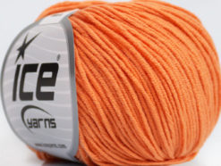 Lot of 8 Skeins Ice Yarns ALARA (50% Cotton) Hand Knitting Yarn Light Orange