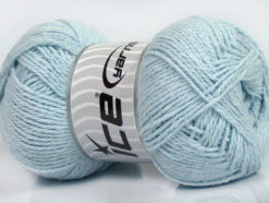 Lot of 4 x 100gr Skeins Ice Yarns COTTON LIGHT (100% Cotton) Yarn Light Blue
