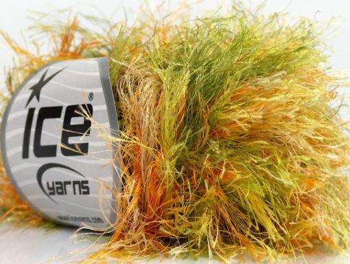 Lot of 8 Skeins Ice Yarns LONG EYELASH COLORFUL Yarn Green Yellow Orange