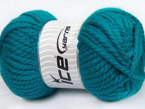 250 gr ICE YARNS ALPINE XL (45% Wool) Hand Knitting Yarn Teal