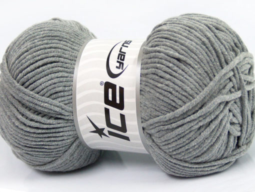 Lot of 4 x 100gr Skeins Ice Yarns LORENA WORSTED (55% Cotton) Yarn Grey