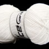 Lot of 4 x 100gr Skeins Ice Yarns LORENA WORSTED (55% Cotton) Yarn White