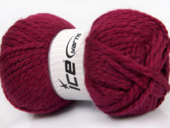 Lot of 2 x 150gr Skeins Ice Yarns SuperBulky ALPINE ALPACA (30% Alpaca 10% Wool) Yarn Burgundy