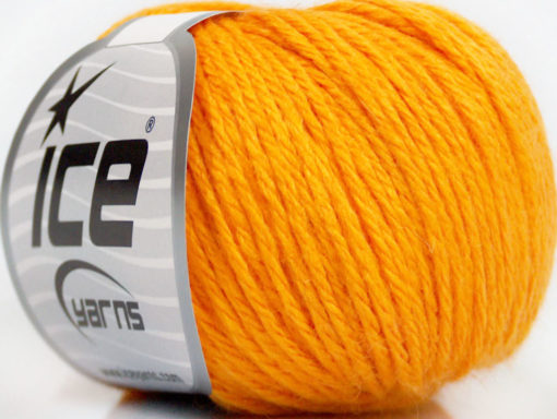 Lot of 6 Skeins Ice Yarns BABY MERINO DK (40% Merino Wool) Yarn Light Orange
