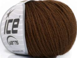 Lot of 6 Skeins Ice Yarns BABY MERINO DK (40% Merino Wool) Yarn Brown