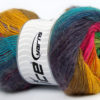 Lot of 4 x 100gr Skeins Ice Yarns MADONNA (40% Wool 30% Mohair) Yarn Rainbow