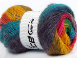 Lot of 4 x 100gr Skeins Ice Yarns MADONNA (40% Wool 30% Mohair) Yarn Rainbow
