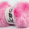 Lot of 4 x 100gr Skeins Ice Yarns EYELASH GLITZ Hand Knitting Yarn Light Pink