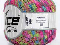Lot of 6 Skeins Ice Yarns Trellis MINI LADDER Yarn Green Lilac Pink Blue