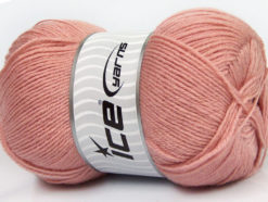 Lot of 4 x 100gr Skeins Ice Yarns MERINO GOLD (60% Merino Wool) Yarn Rose Pink