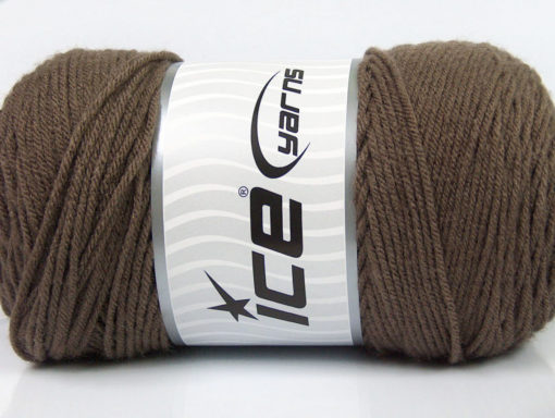 Lot of 2 x 200gr Skeins Ice Yarns SAVER Hand Knitting Yarn Dark Camel