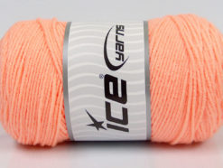 Lot of 2 x 200gr Skeins Ice Yarns SAVER Hand Knitting Yarn Light Orange