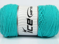 Lot of 2 x 200gr Skeins Ice Yarns SAVER Hand Knitting Yarn Aqua