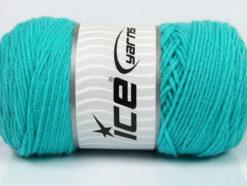 Lot of 2 x 200gr Skeins Ice Yarns SAVER Hand Knitting Yarn Aqua