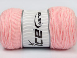 Lot of 2 x 200gr Skeins Ice Yarns SAVER Hand Knitting Yarn Light Pink