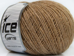 Lot of 8 Skeins Ice Yarns WOOL CORD FINE (30% Wool) Yarn Light Brown
