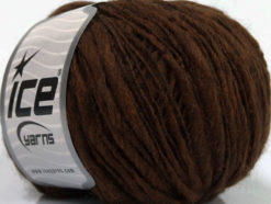 Lot of 8 Skeins Ice Yarns FIAMMATO (45% Wool) Hand Knitting Yarn Brown