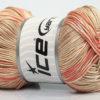 Lot of 4 x 100gr Skeins Ice Yarns TROPICAL MERCERIZED (100% Mercerized Cotton) Yarn Salmon Beige Cream