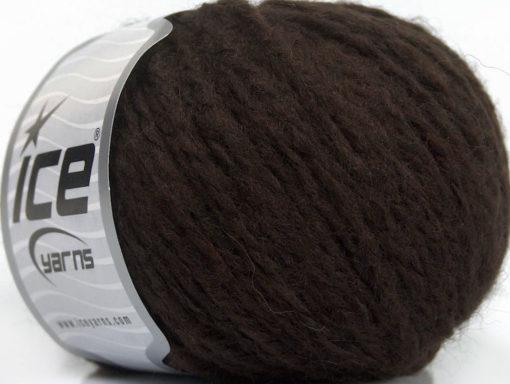 Lot of 8 Skeins Ice Yarns PALOMA WOOL (40% Wool) Hand Knitting Yarn Dark Brown